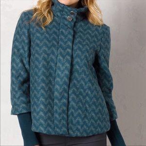Prana • Lily Teal Wool Blend Swing Coat XL